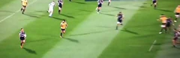 Sensational last man defence by prop Ben May