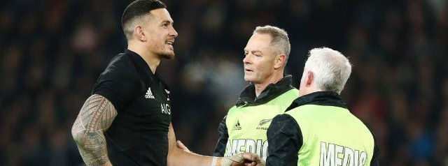 Sonny Bill Williams Ruled out of Springbok Test