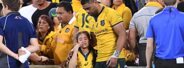 Watch: Wallaby Lukhan Tui clashes with fan after his side loss