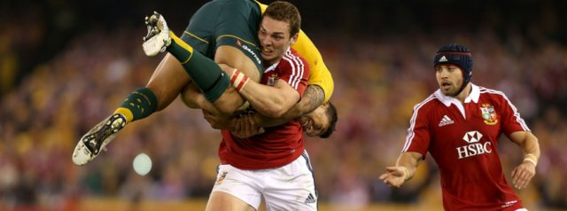 WATCH: George North's tackle on Israel Folau in 2013