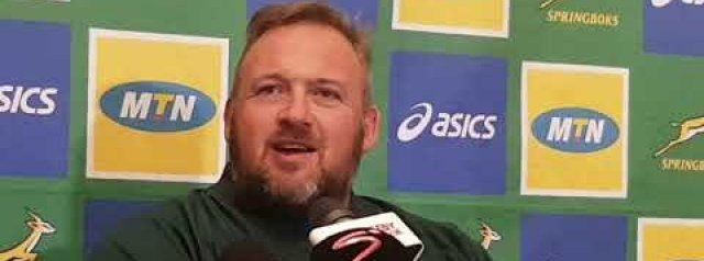 Springbok coach Matt Proudfoot ahead of the Rugby Championships opening game