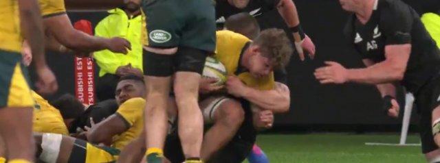 Watch: A new angle of Scott Barrett's hit on Michael Hooper