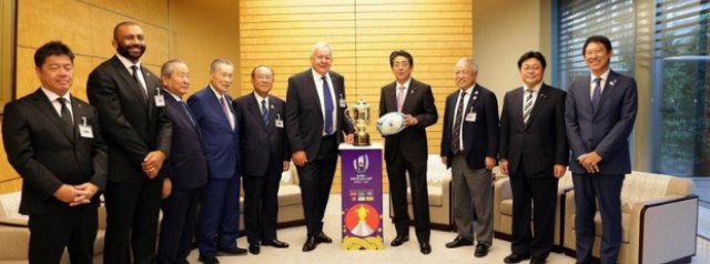 Prime Minister Shinzo Abe excited by prospect of best-ever Rugby World Cup