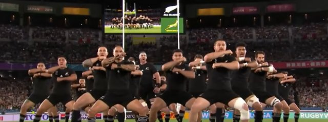 Watch: The First Haka of the 2019 Rugby World Cup