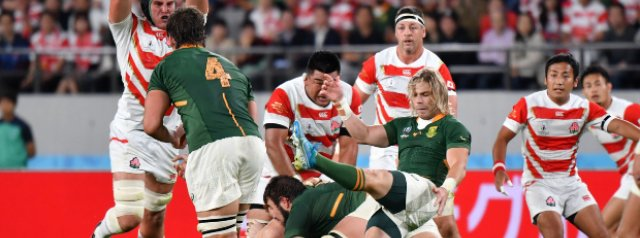 Springboks power through Japan to book a place in the semis