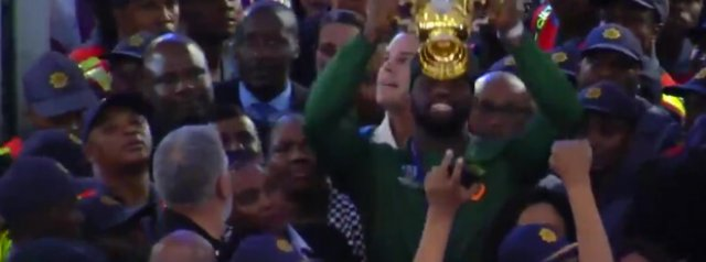 Watch: The Springboks receive a hero's welcome as they touch down in South Africa