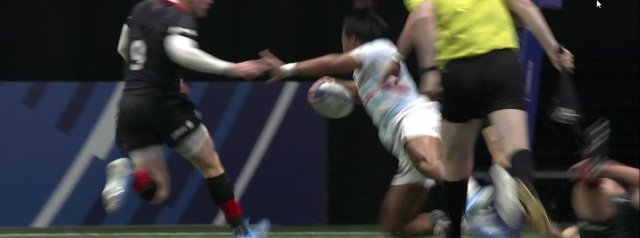 Watch: Teddy Thomas' controversial try