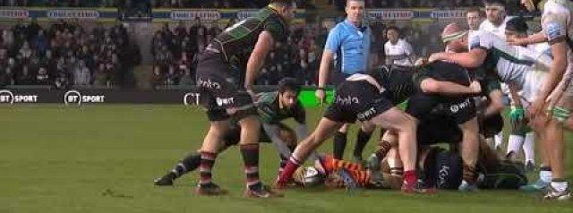WATCH: London Irish's winning try against the Saints
