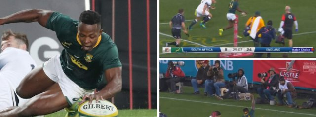 WATCH: Sbu Nkosi's SUPERB Attacking Display In His Test Debut Against England
