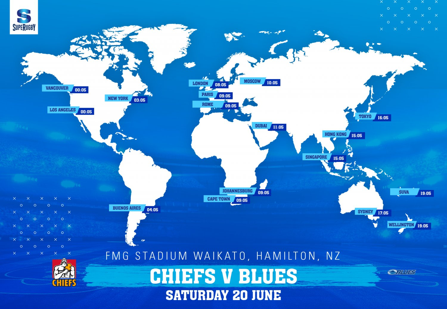 Worldwide kick off times: Chiefs v Blues