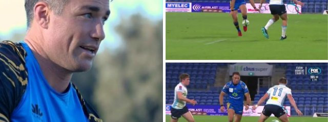 Watch: Former All Black Centre Brilliantly Nutmegs A Defender