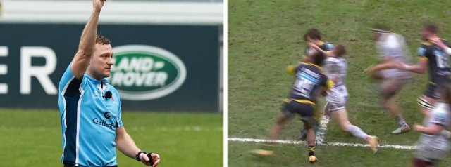 Ollie Thorley's red card leaves Twitter perplexed