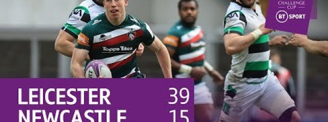 Leicester Tigers vs Newcastle Falcons (39-15) | Semi-Finals Await Tigers | Challenge Cup Highlights