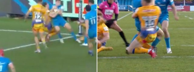 HOW is Jordan Larmour able to score this!?