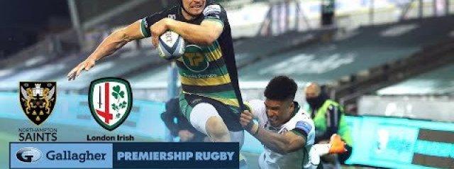 Premiership Rugby Highlights Northampton Saints vs London Irish