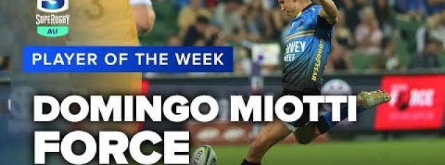 Force's Domingo Miotti scored 16 points on Saturday, including a field goal and this final kick to score a memorable win over the Waratahs.
