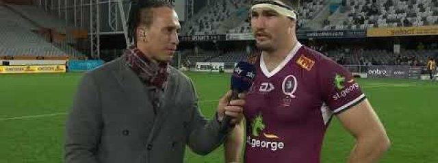 Trans-Tasman | Highlanders v Reds | Post-match interview with Liam Wright