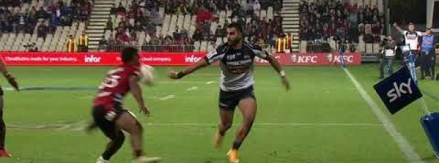 Rob Valetini scores but Noah drags the kick for the Brumbies against the Crusaders