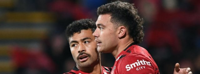 Super Rugby: Crusaders & Chiefs cling on as Blues thrash Rebels