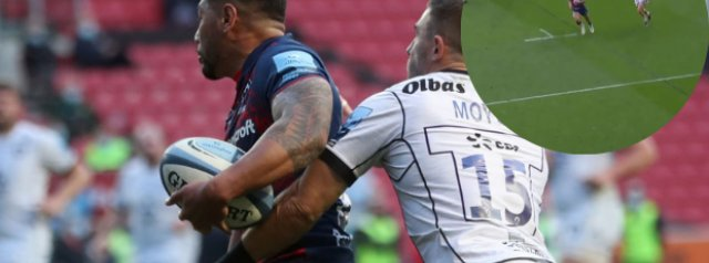 Watch: Charles Piutau robbed of a try by Gloucester fullback