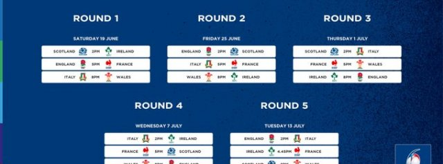 2021 U20 Six Nations Fixtures Announced