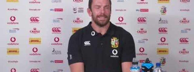 Lions Tour: second test. Alun Wyn Jones full press conference 29 July