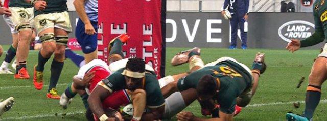 Watch: Siya Kolisi's try saving tackle