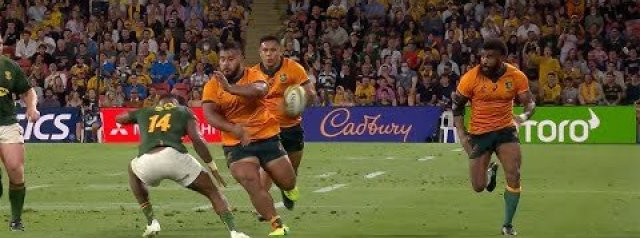 Taniela with the ONE HAND NO LOOK TRY ASSIST!